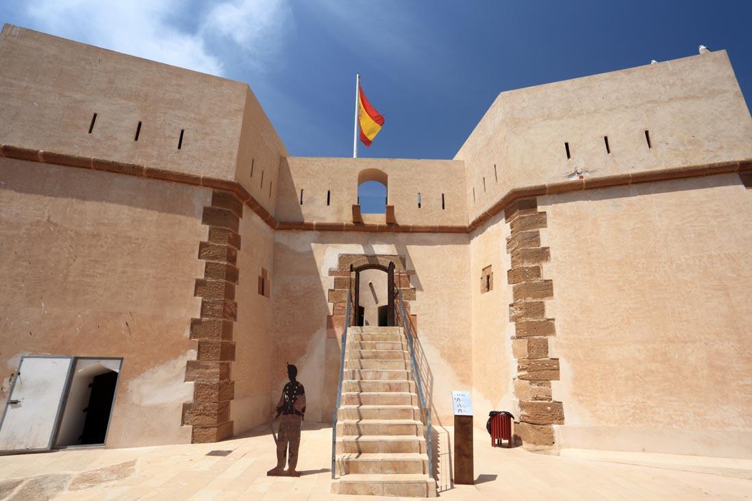 entrada al castillo de san juan de Águilas