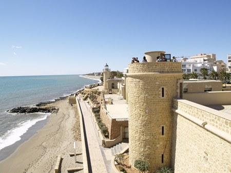 castillo de Santa Ana en Roquetas de Mar, Almeria