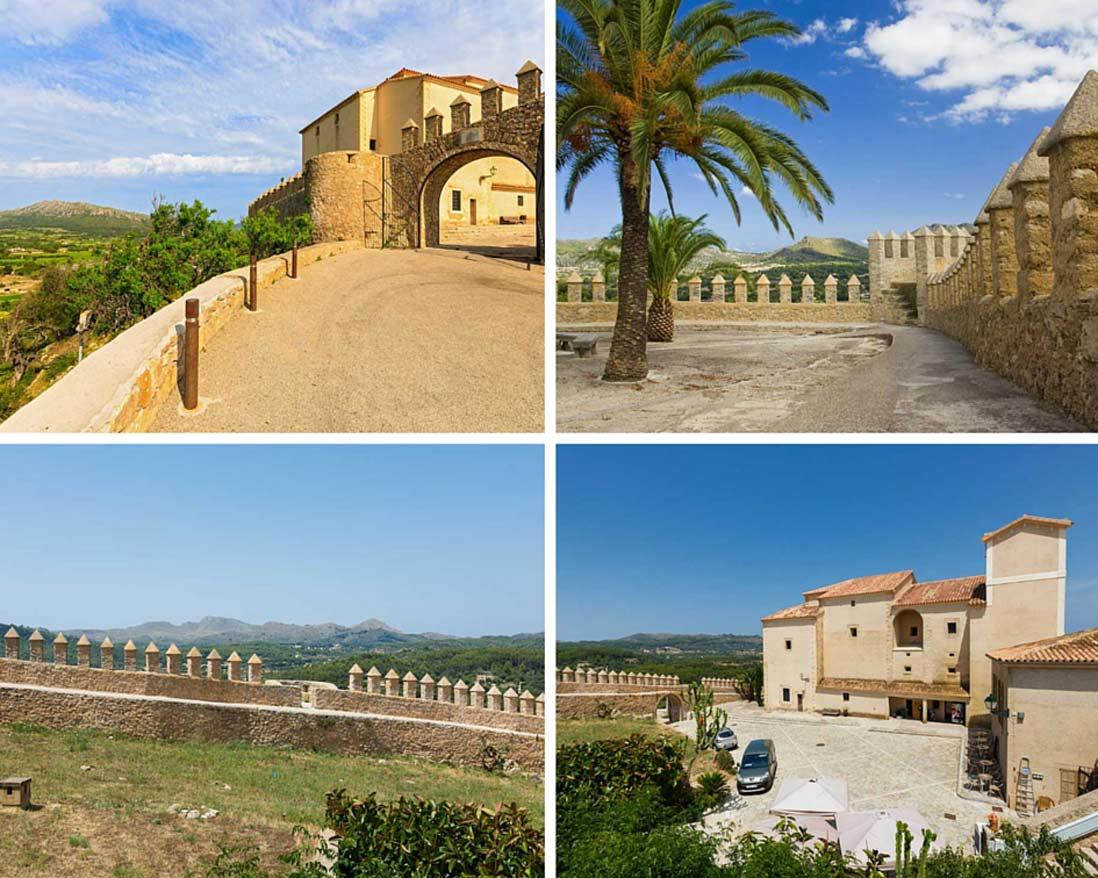 collage fotos del monte puig san salvador en Arta en la isla de Mallorca
