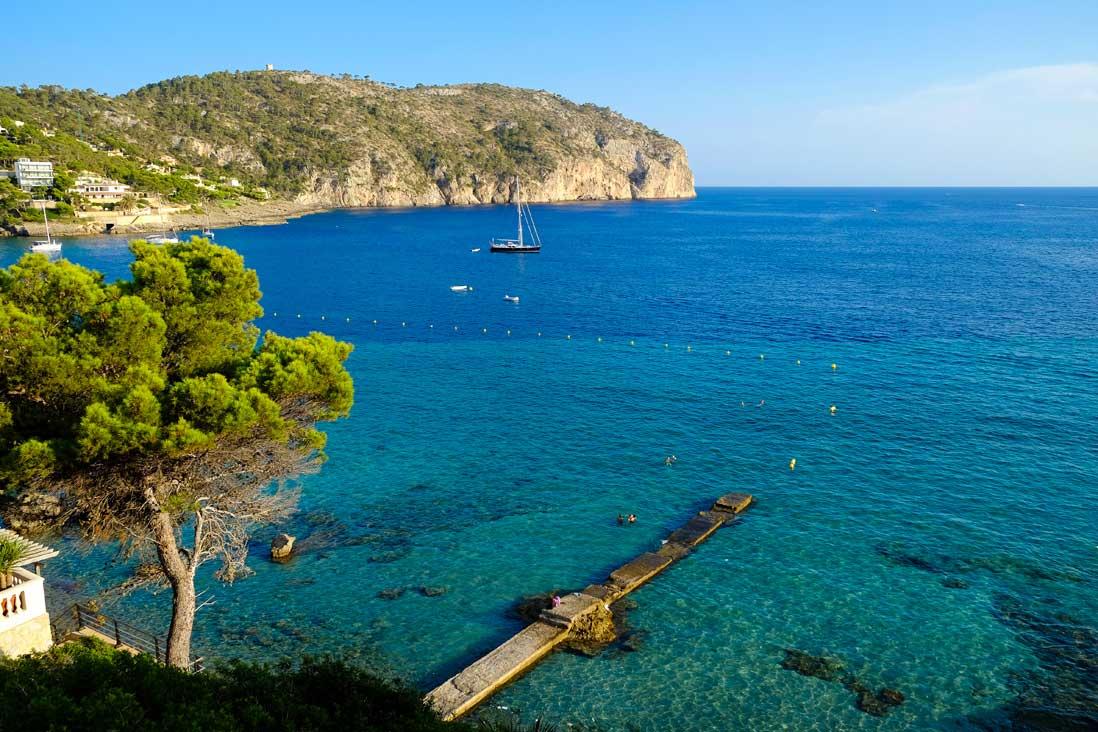 paisaje de la costa de Andrach en Mallorca