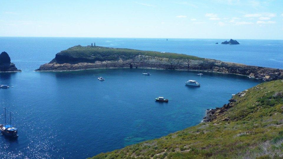 panoramica de las islas columbretes
