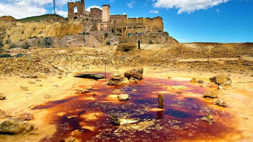 minas de mazarron en la costa calida españa