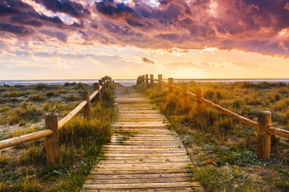 caminos y senderos en las playas del Parque Natural de Cabo de Gata-Nijar en Almeria