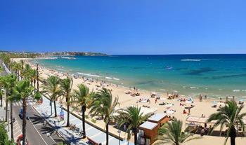 vista panoramica de la Playa de Poniente de Salou