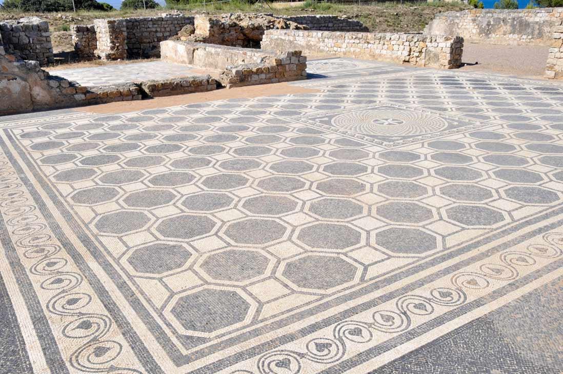 Muestra de mosaico Yacimiento greco-romano de Empúries