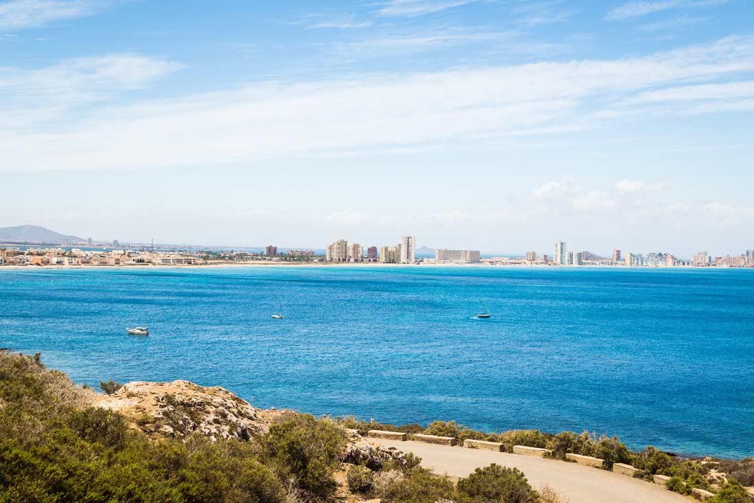 vista panoramica de la manga del mar menor