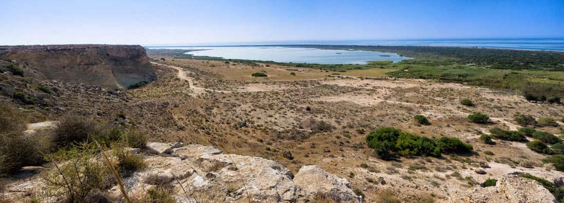 vista panoramica Paraje Natural Punta Entinas-Sabinar Almería