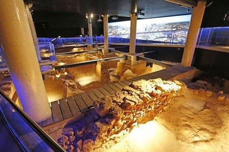 Inside the Archaeological-site-Gadir-in-Cadiz