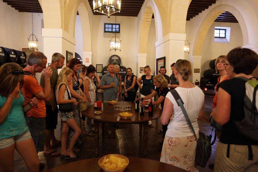 Inside Bodegas Osborne in Puerto de Santa Maria