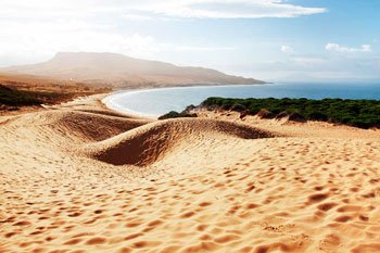 Bolonia beach and big dune in Tarifa