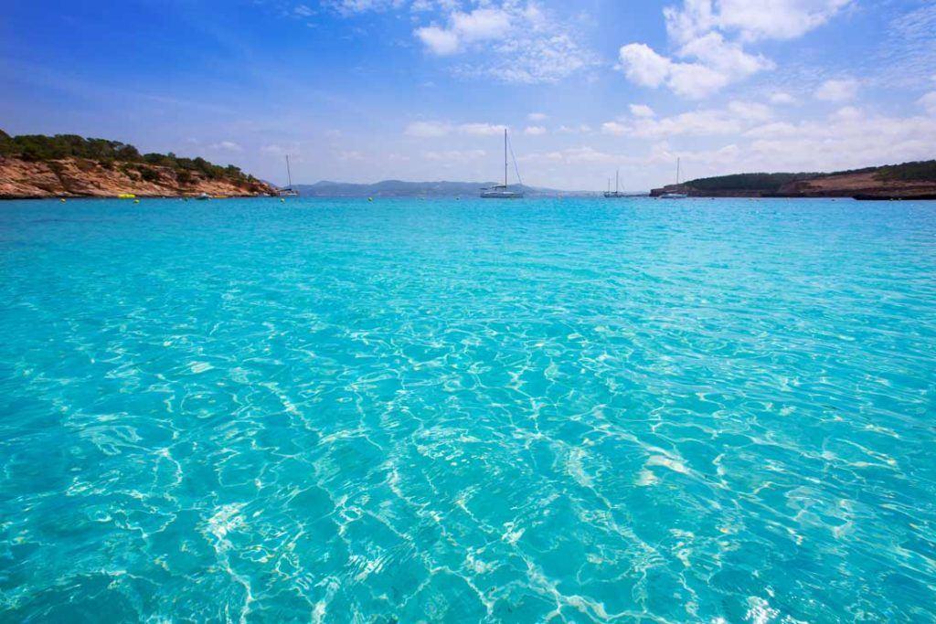 Turquoise water in Sant Josep de Sa Talaia