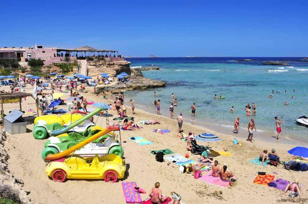 Cala Comte beach in Sant Josep de Sa Talaia