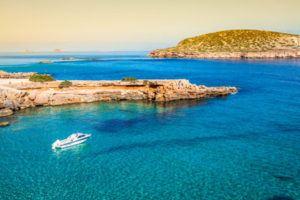 Cala Compte beach in Ibiza