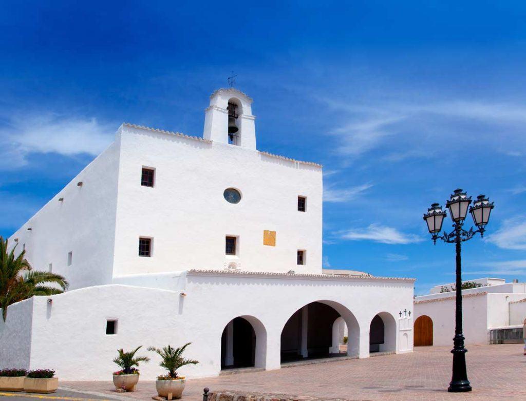 Frontal Facade Sant Josep de Sa Talaia church