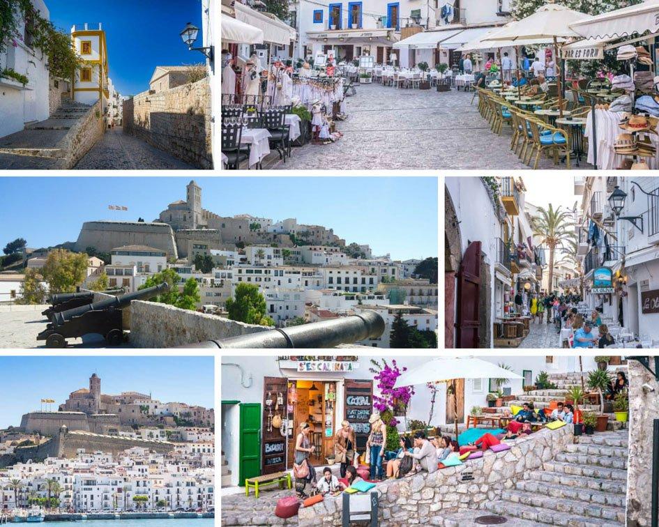 Collage photos Dalt Villa Ibiza town
