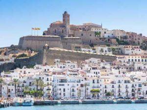 panoramic view Dalt Vila in Ibiza