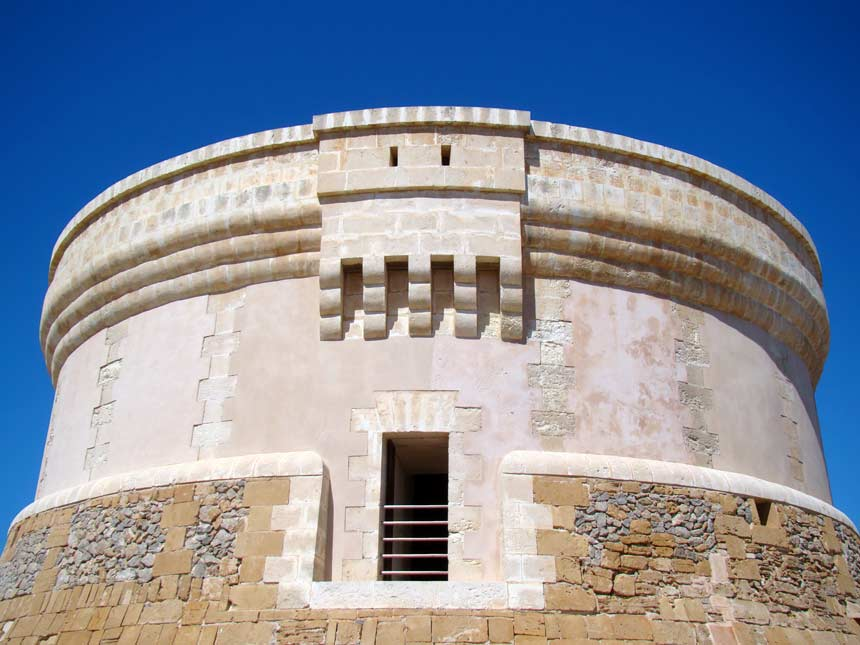 Top of the Des Fornells tower in Menorca