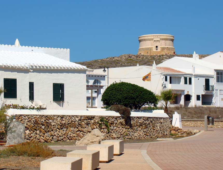 Des Fornells tower in Menorca