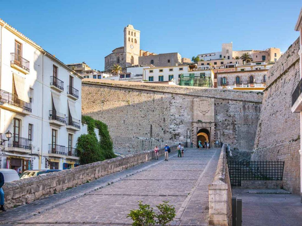 Entrance to Dalt Vila trought Portal de Ses Taules, Ibiza