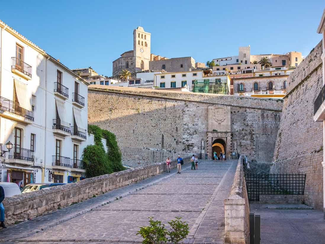 Main entrance to Dalt Vila trought the Portal de Ses Taules in Ibiza city