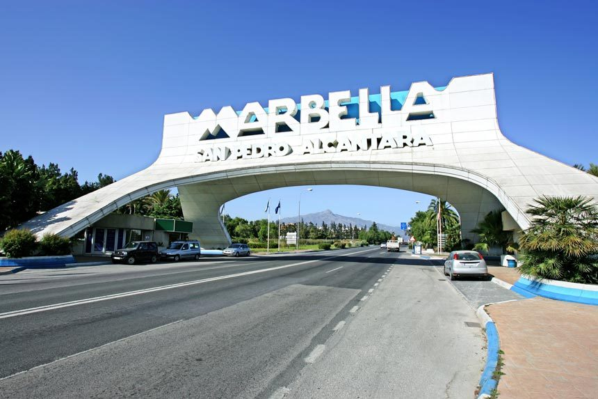 Entrance to the city of Marbella