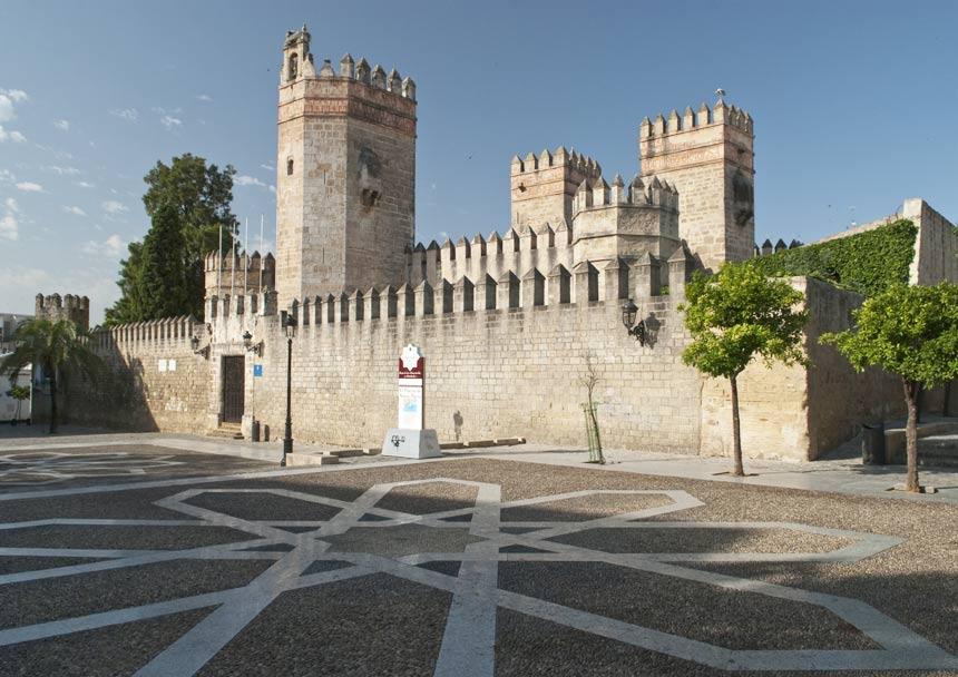 Facade San Marcos Castle in Puerto de Santa Maria, Cadiz