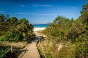 Hiking trail in Santa-Eulalia-Ibiza