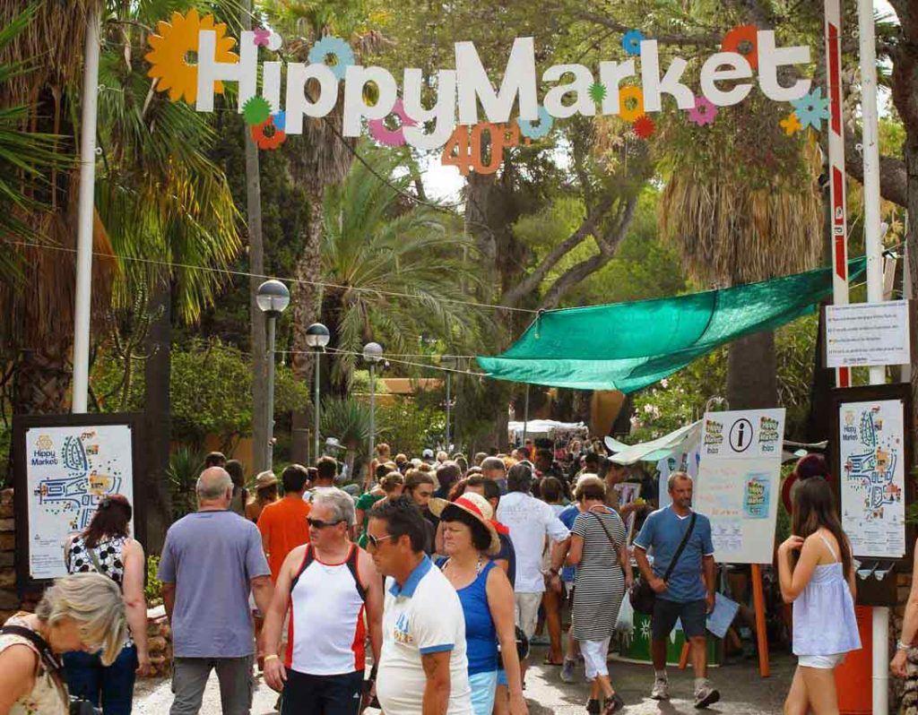 main entrance hippie market Punta Arabi in Es Canar