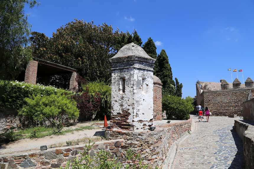 Turist inside Gibralfaro's Castle