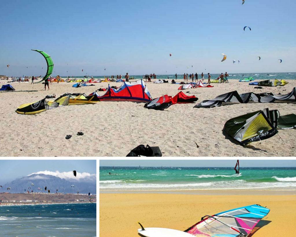 Los Surfing and kitesurfing in Lances beach in Tarifa (3)