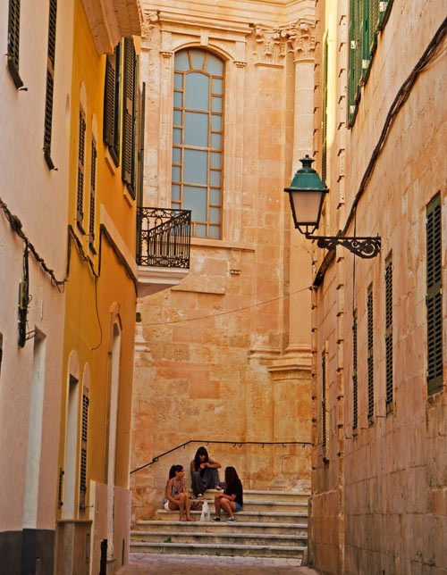 Menorca-Cathedral-streets