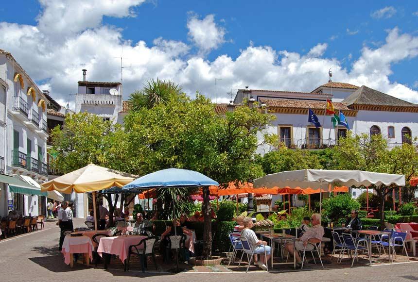 Naranjos square in ,-Marbella old town,-Malaga