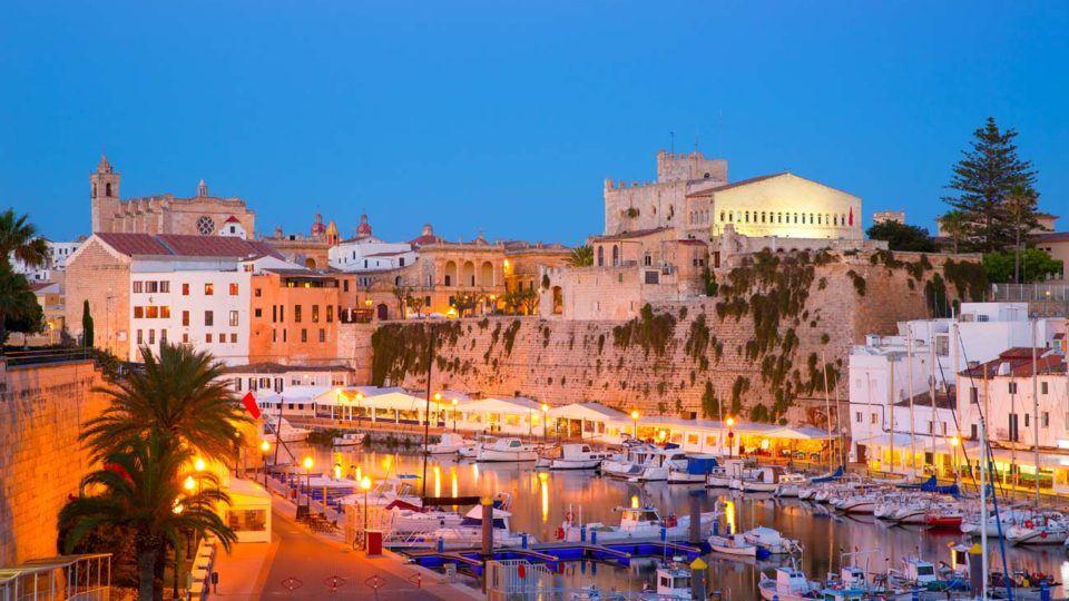 Panoramic view Ciutadella Port, Menorca