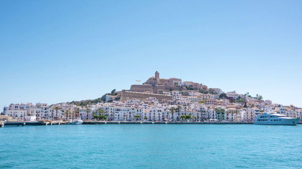 beautifull panoramic view Ibiza city