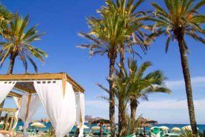 famous Playa d'En Bossa in Ibiza