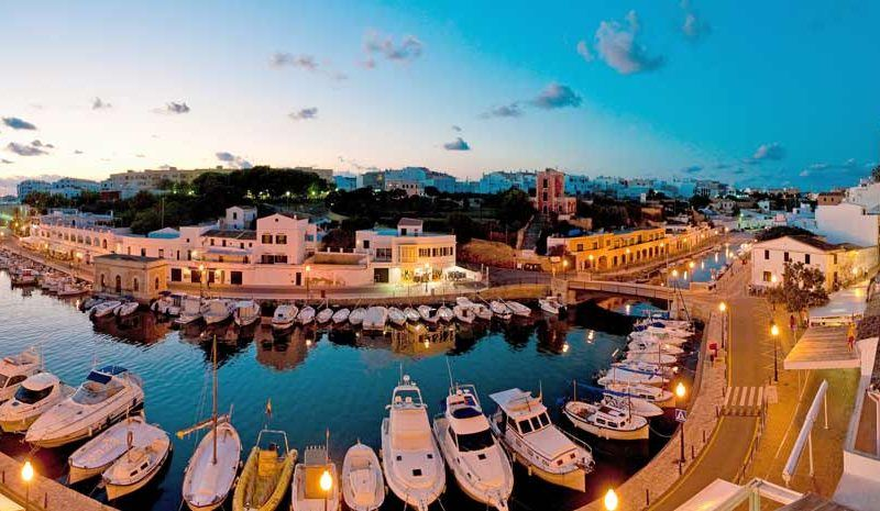 Port of Ciutadella in Menorca