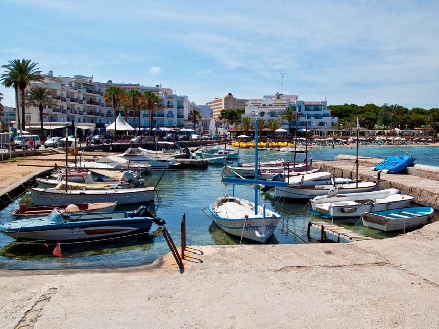 Port Of Es Canar in Santa Eulalia