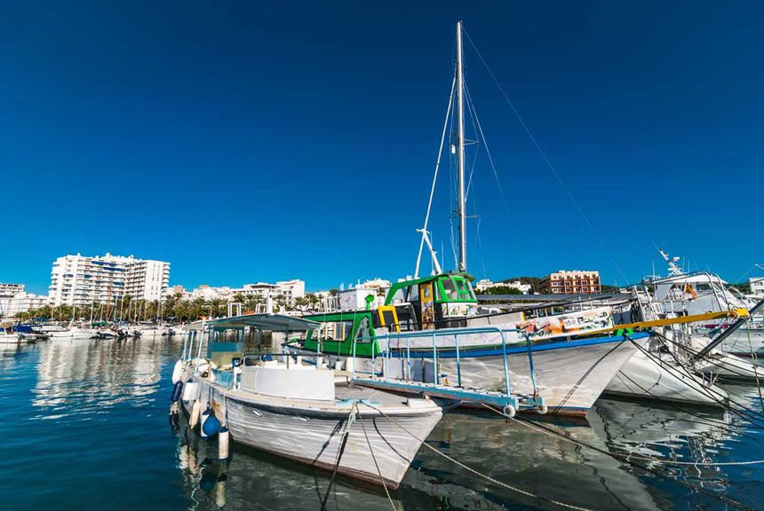 Port Of Ibiza in Sant Antoni