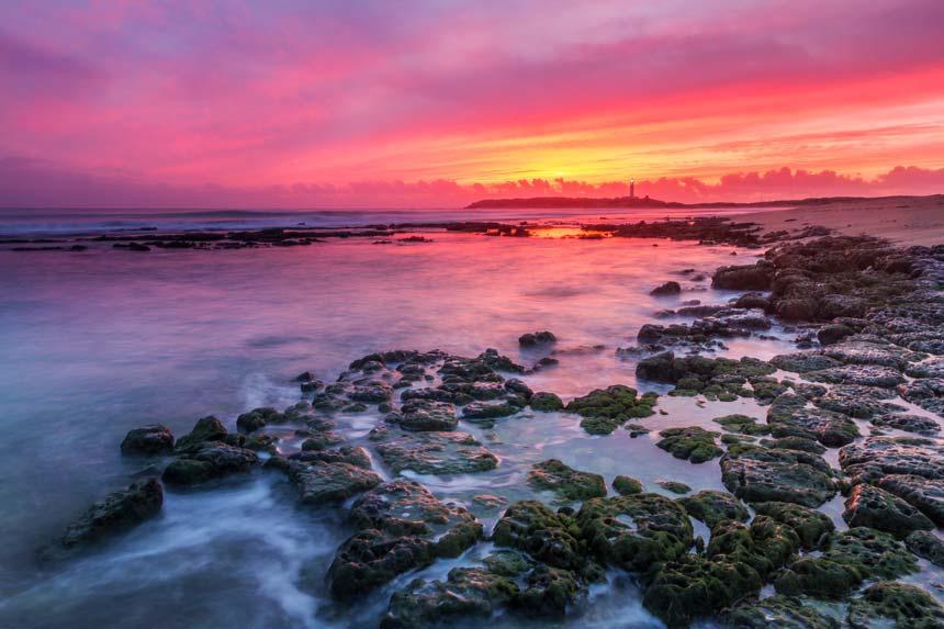Maravillosas puestas de sol en el Cabo de Trafalgar