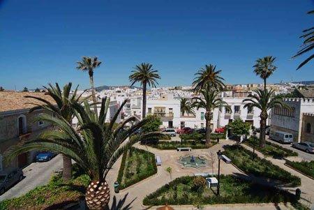 Santa-Maria-square-in-Tarifa-aereal-picture