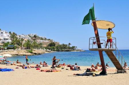 ses figueretas beach in Ibiza town
