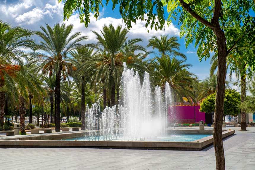 Fountains in Promenade Ses Fonts in Sant Antoni