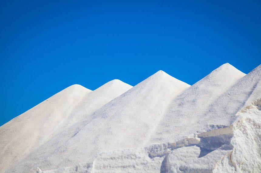 Mountains of Salt in Ses-Salines-Sant-Josep-isla-de-Ibiza