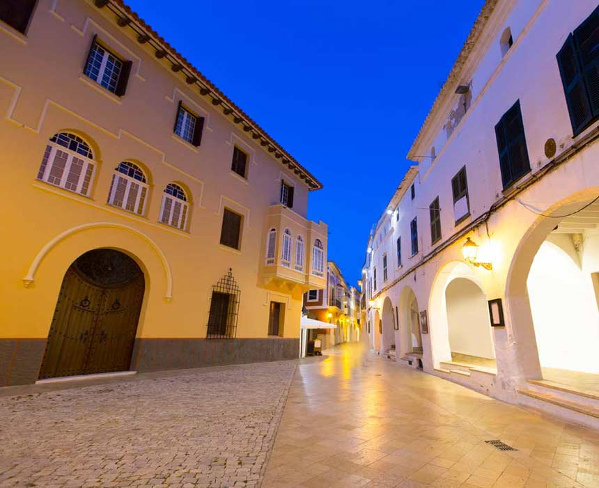 Ses-Voltes-street-in-Ciutadella-Menorca