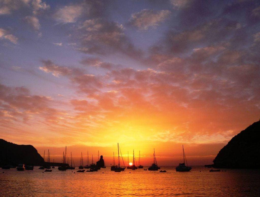 Sunset in Benirras beach , Ibiza