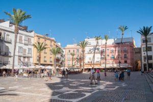 Terrasses in old town Cadiz