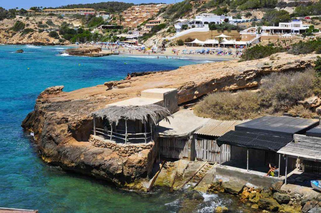 Traditional fisherman houses in Cala-Tarida-Sant-Josep