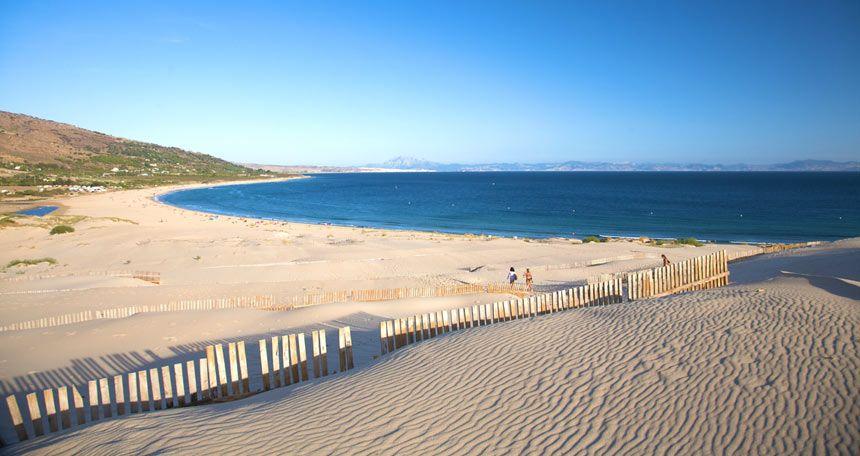 Panoramic view over Valdevaqueros beach in Tarifa
