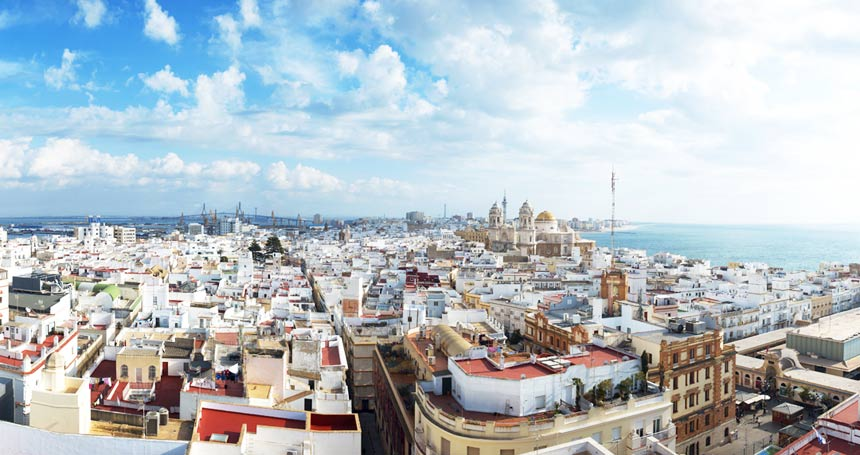 Panoramic Views-from-the-topTavira-Tower-,-Cadiz
