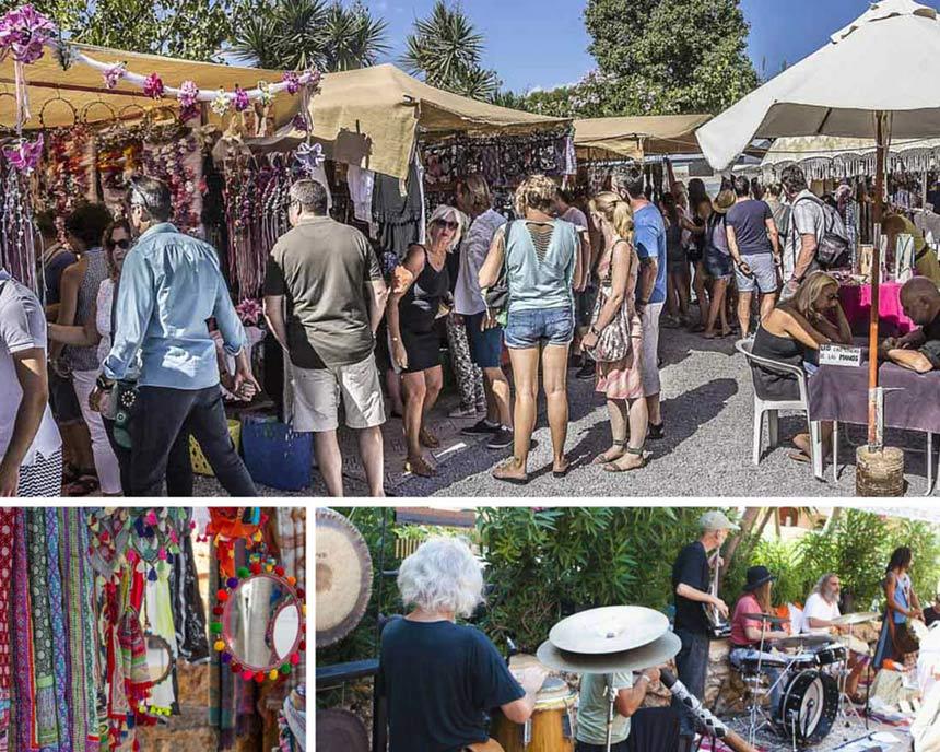 Inside the hippie Market Punta Arabi in Santa Eulalia, Ibiza